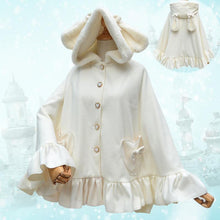 Load image into Gallery viewer, Lolita Rabbit Ears Hoodie Poncho Cape SP168479