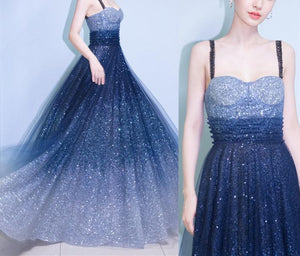 Pastel Gradient Galaxy Party Dress SP1812321