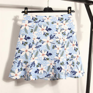 Pink/Blue/Green Sweet Flower Falbala Skirt SP1812525