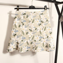 Load image into Gallery viewer, Pink/Blue/Green Sweet Flower Falbala Skirt SP1812525
