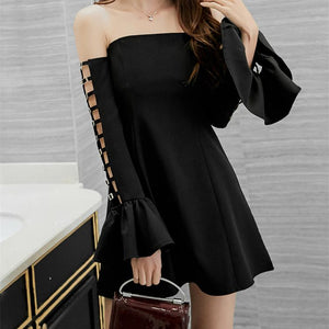 Pink/White/Black Off Shoulder Dress SP1812391