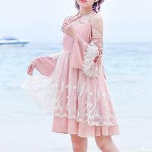 Load image into Gallery viewer, Pink Fairy Floral Bow Dress SP1812549