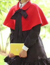 Load image into Gallery viewer, Red/Black [Little Red Hood]Lolita Two-Piece Cloak Coat SP153715