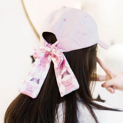 [Reservation]Pink Laced Bow Baseball Cap SP1812155