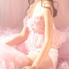 Load image into Gallery viewer, [Reservation]Pink Sweet Flower Tulle Bikini Swimsuit SP1812054