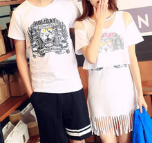 Load image into Gallery viewer, S-3XL Black/White/Grey Couple Clothes Dress/Tee SP167157