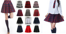 Load image into Gallery viewer, S-3XL Uniform Pleated Skirt SP154547