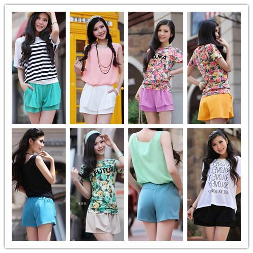 S-4XL 16 Colors Pastel Jelly Summer Hot Short SP152312 Page 1
