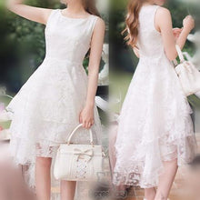 Load image into Gallery viewer, S-XL White Elegant Sleeveless Lace Dress SP167130