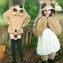 Load image into Gallery viewer, S/M/L Kawaii Palm Civet Fleece Hoodie Jumper SP178650