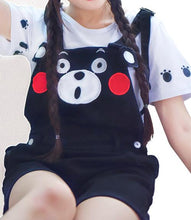 Load image into Gallery viewer, S/M/L Kumamom Tee+Suspender Shorts Overalls Set SP167093