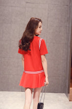 Load image into Gallery viewer, S/M/L Red/White Loose Summer Dress SP152476