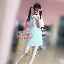 Load image into Gallery viewer, S/M Light Blue Suspender Denim Dress SP167112