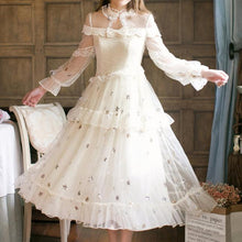Load image into Gallery viewer, Starry Lace Fairy Midi Dress SP1710530