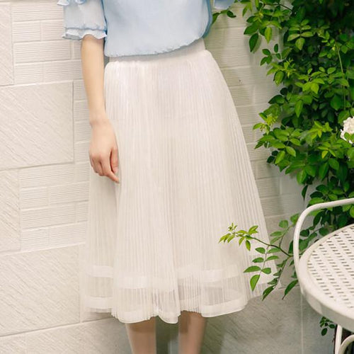 White Elegant Skirt SP166939