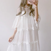 Load image into Gallery viewer, White Fairy Flower Princess Dress SP1812203