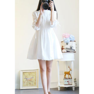 White Sweet Simply Lovely Lace Dress SP179220