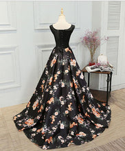 Load image into Gallery viewer, Stylish Lace Floral Pattern A Line Long Prom Dress, Evening Dresses