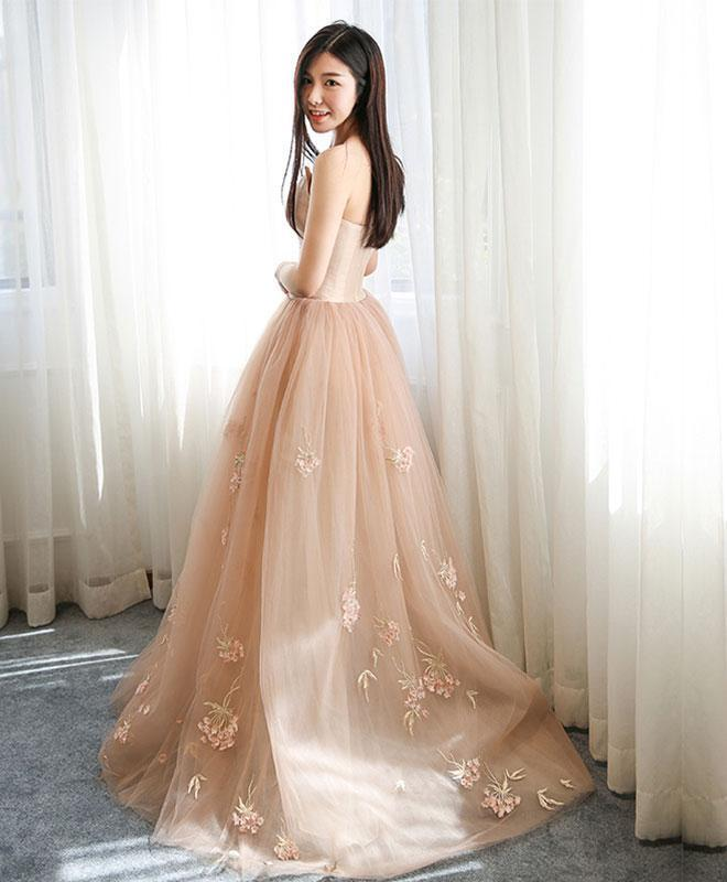 Stylish Tulle Ace Long Prom Gown, Evening Dress