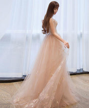 Load image into Gallery viewer, Stylish Tulle Ace Long Prom Gown, Evening Dress