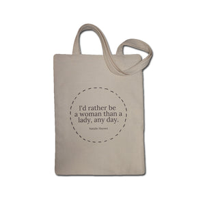 Tote bag quote