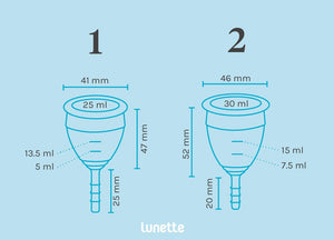 Lunette menstrual cup (size 2)