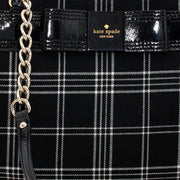 Kate Spade Primrose Hill Plaid Zippered Darcy Bag- Black