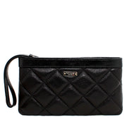 Kate Spade Gold Coast Zippered Chrissy Wristlet- Black