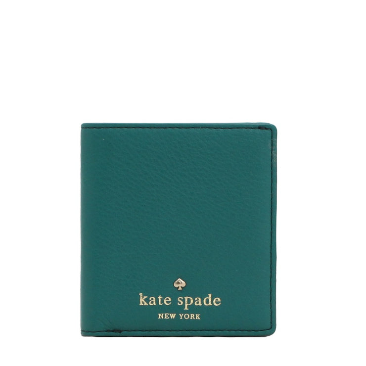 Kate Spade Cobble Hill Small Stacy Wallet- Deep Emerald
