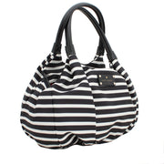 Kate Spade Nylon Stripe Small Karen Bag- Black-Cream