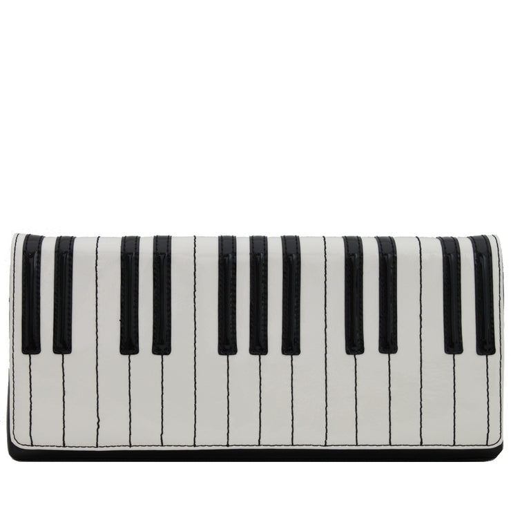 Kate Spade Duet Piano Clutch Bag- Icing-Black