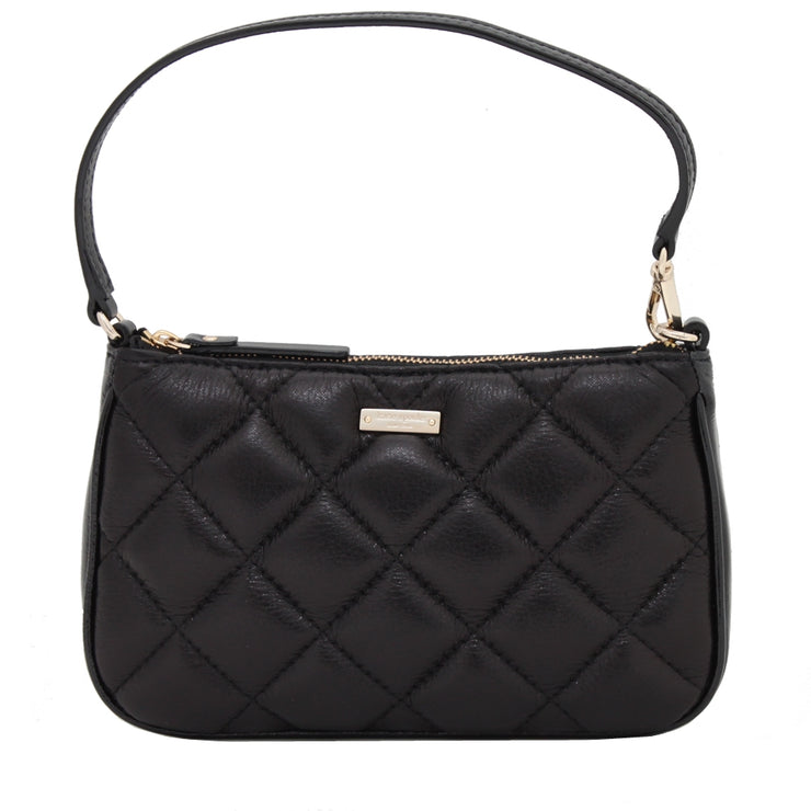 Kate Spade Gold Coast Linet Wristlet Mini Bag- Black
