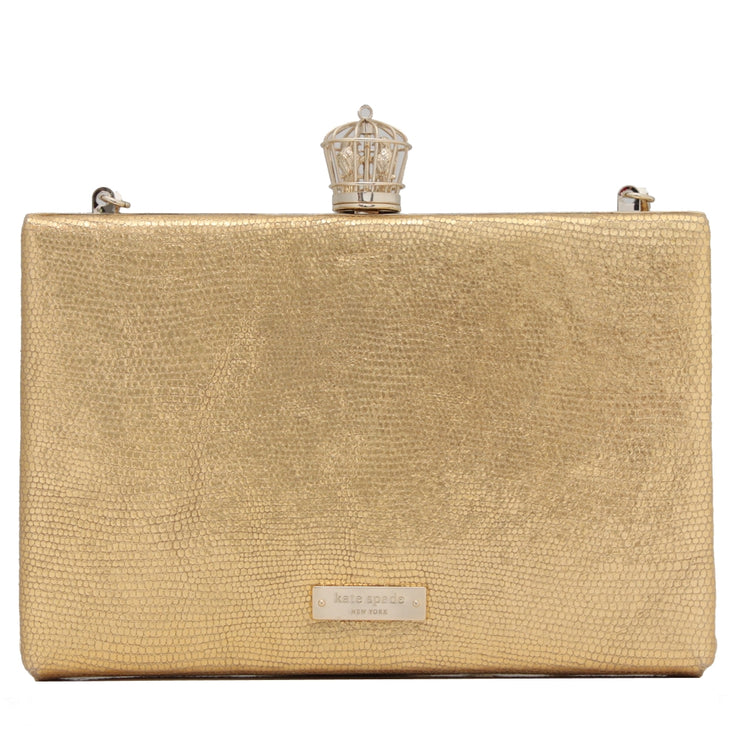 Kate Spade Song Bird Emanuelle Shoulder Clutch Bag- Gold
