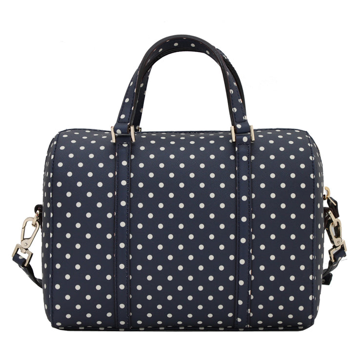 Kate Spade Grant Street Grainy Vinyl Mini Cassie Bag- French Navy-Cream