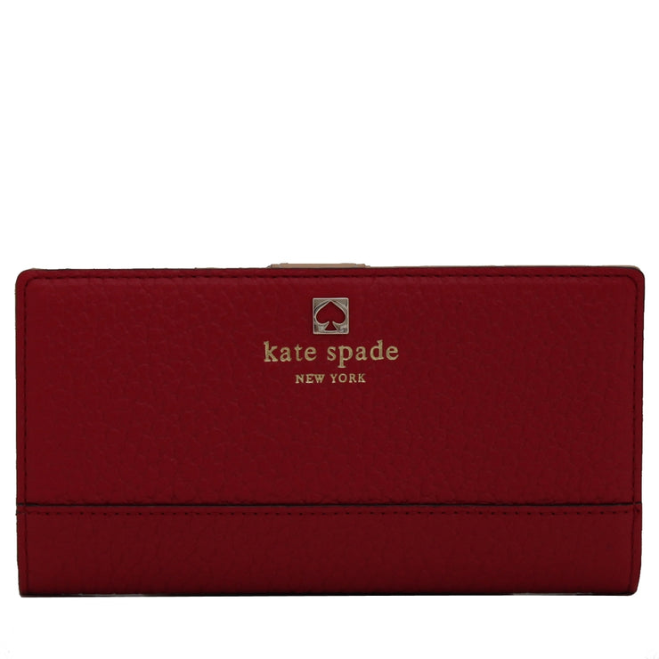 Kate Spade Southport Avenue Stacy Wallet- Dynasty Red