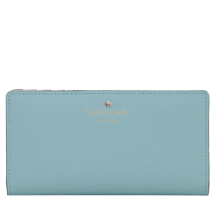 Kate Spade Mikas Pond Stacy Wallet- Blue Hydrangea