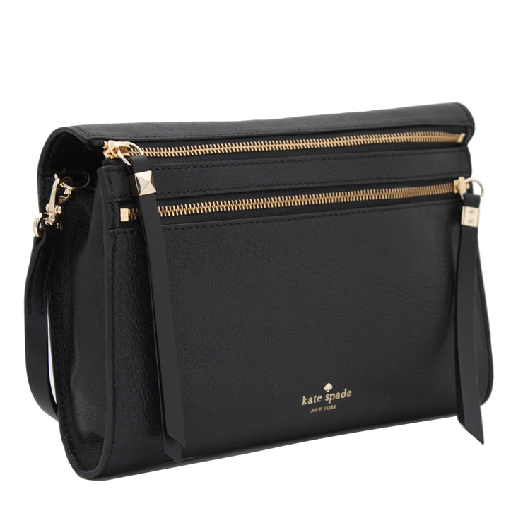 Kate Spade Social Butterfly Skyler Clutch Sling Bag- Black