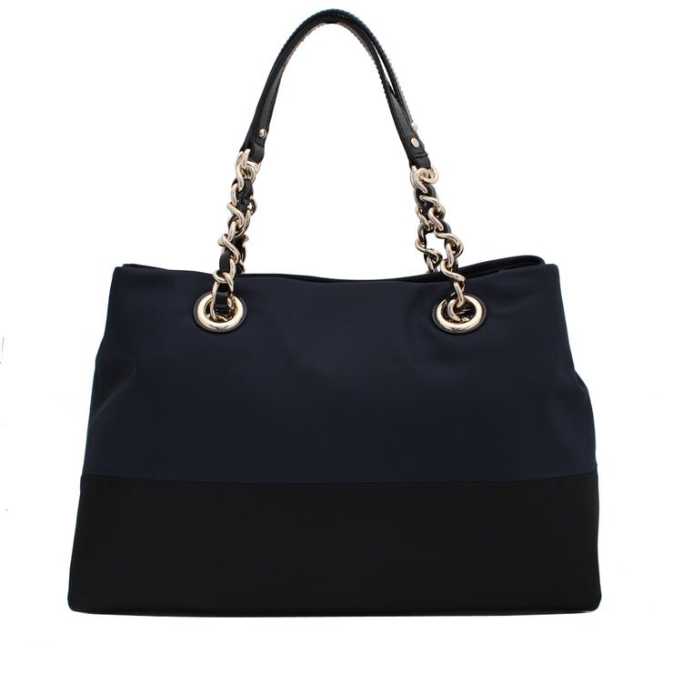Kate Spade Fashion Nylon Colourblock Maryanne Bag- Navy- Black