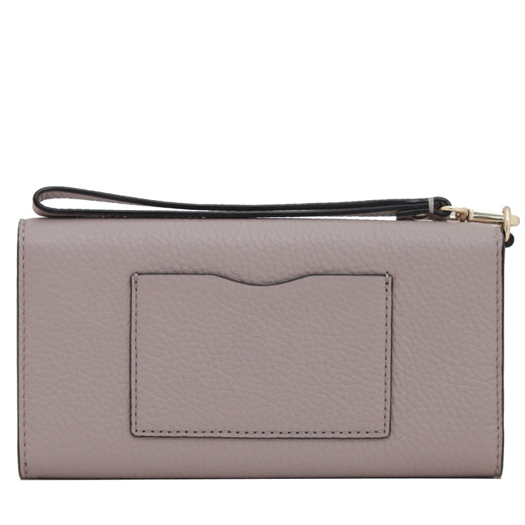 Kate Spade Spencer Court Rae Leather Wallet Wristlet- Dusty Peony