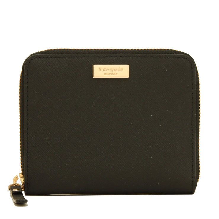 Kate Spade Laurel Way Darci Zip Around French Wallet- Black