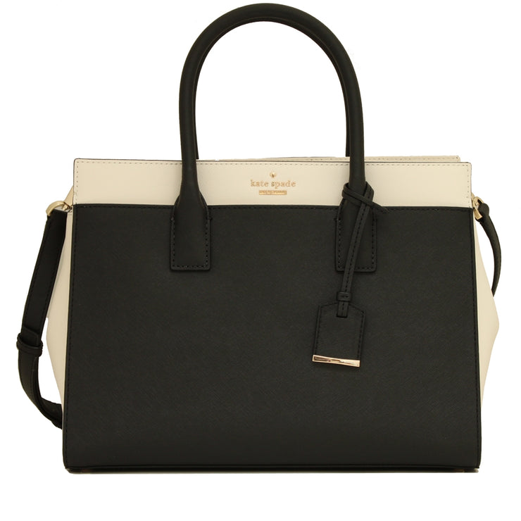 Kate Spade Cameron Street Candace Satchel Bag- Black- Cement