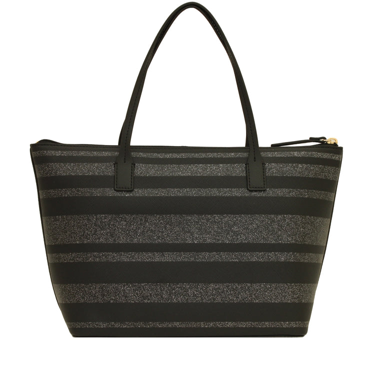 Kate Spade Haven Lane Hani Bag- Black- Glitter Stripes