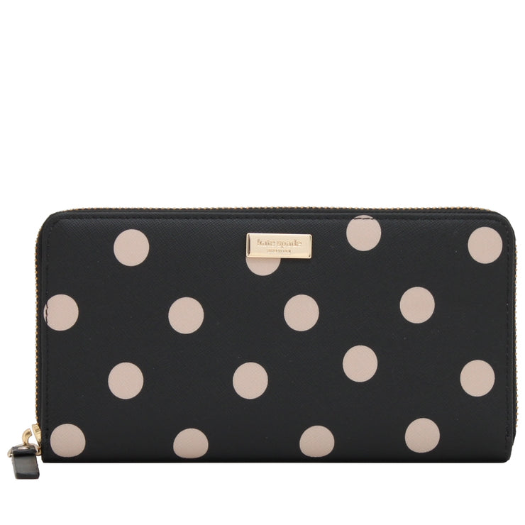 Kate Spade Shore Street Lacey Wallet- Black- Deco Beige