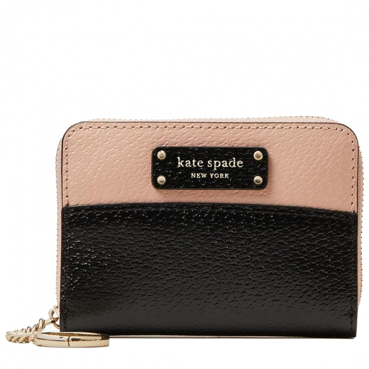 Kate Spade Jeanne Small Key Continental Wallet WLRU5582 in Warm Vellum Black