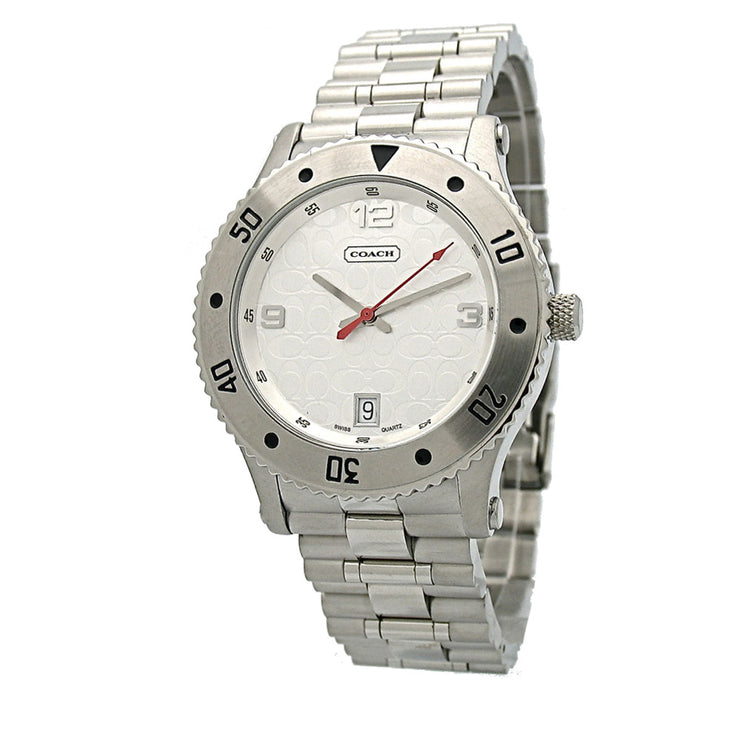 Coach Men's Stainless Steel Watch w Signature Coach Dial