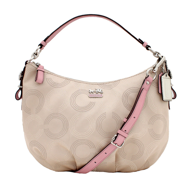 Coach Madison Dotted Op Art Convertible Hobo Bag