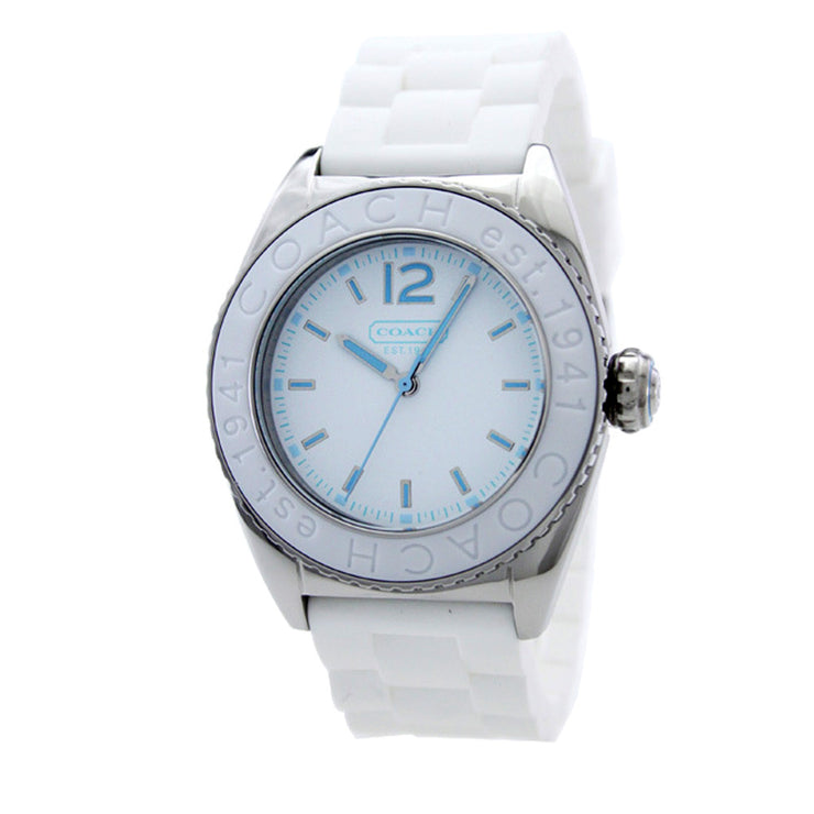 Coach Ladies' Andee White Silicon Strap Watch