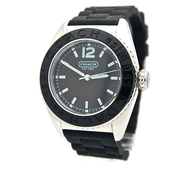 Coach Ladies' Andee Black Silicon Strap Watch