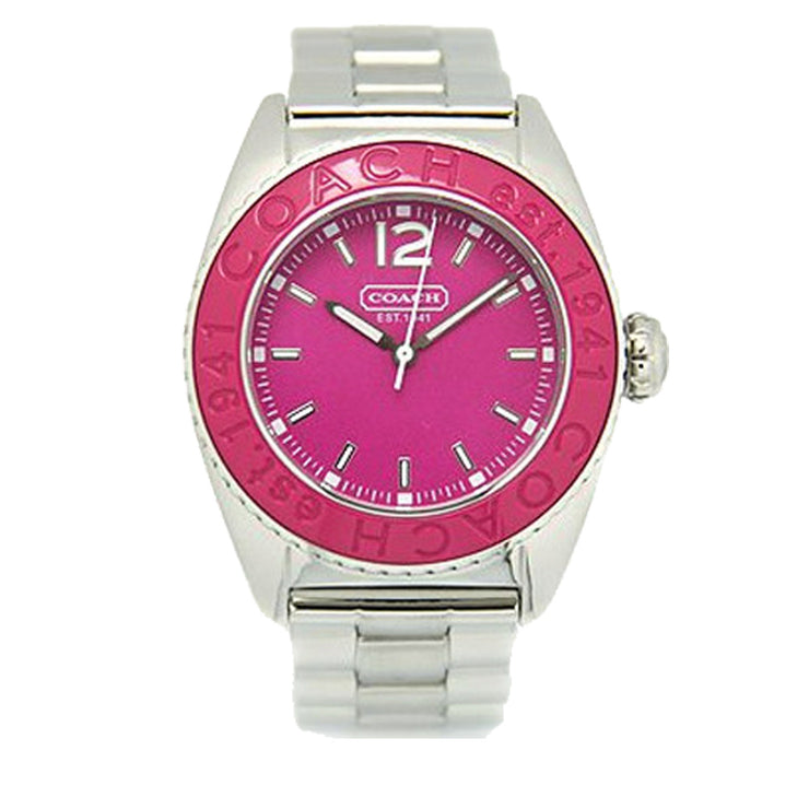 Coach Ladies' Andee Stainless Steel Watch w Pink Dial