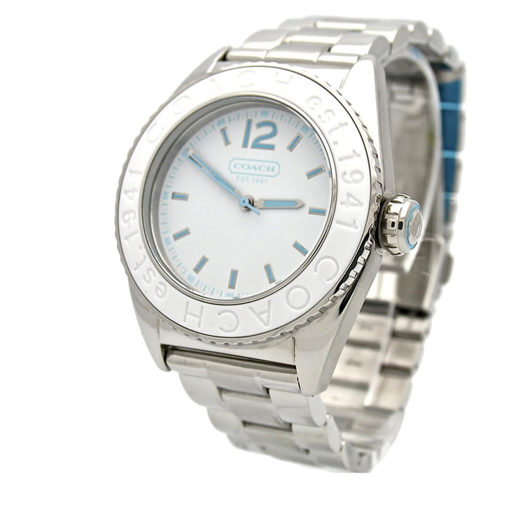 Coach Ladies' Andee Stainless Steel Watch w White Dial